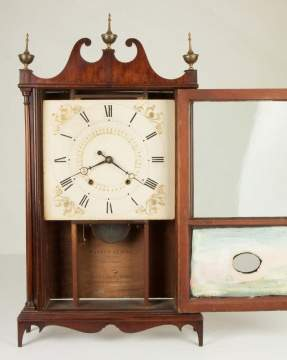 Eli & Samuel Terry Pillar and Scroll Shelf Clock