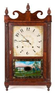 Jerome & Darrow, Bristol, CT, Jester Top Rope Column Clock