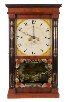Norris North, Torrington, CT, Miniature Flattop Shelf Clock