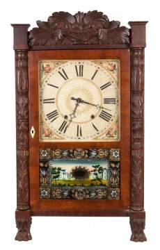Eli Terry, Watertown, CT, Carved Column Shelf Clock