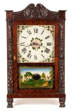 George Mitchel Carved Column Shelf Clock