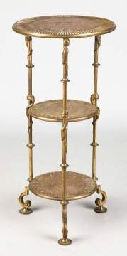 Tiffany & Co. Bronze 3 Tier Plant Stand