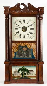 Elisha Manross Triple Decker Shelf Clock