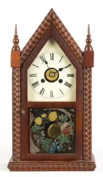 E. N. Welch Miniature Ripple Steeple Shelf Clock