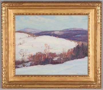 "George Renouard (American, 1884-1954) ""Winter in the Catskills"" 1925."