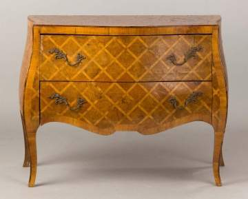 Italian Marquetry Bombay Two Drawer Commode