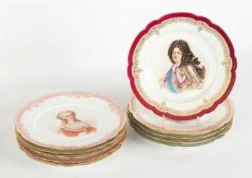 Group of Sevres Artist Signed Plates