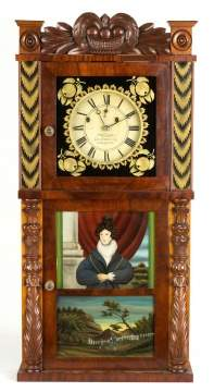 Asa Munger & Co. Auburn, NY Shelf Clock