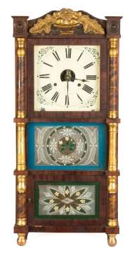 Birge, Peck and Co. Triple Decker Shelf Clock