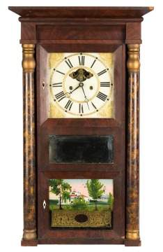 Unusual Eli Terry Jr. Triple Decker Shelf Clock