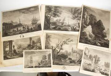 Group of 18 Early Engravings