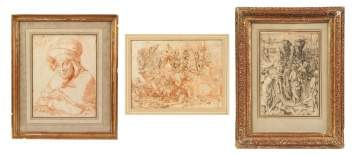 Three Old Masters Drawings and Etchings