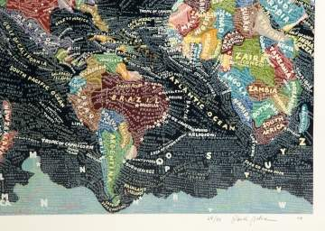 "Paula Scher (American, b. 1948) ""The World"", 2006"