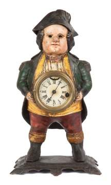Bradley & Hubbard 'The Admiral' Cast Iron Blinking Eye Clock