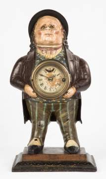 Bradley & Hubbard John Bull Cast Iron Blinking Eye Clock
