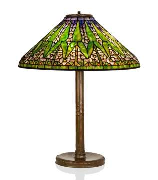 Tiffany Studios, New York, ' Arrowroot' Table Lamp