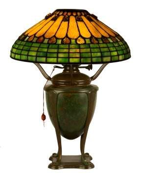 Tiffany Studios, New York, Jewel & Feather Table Lamp