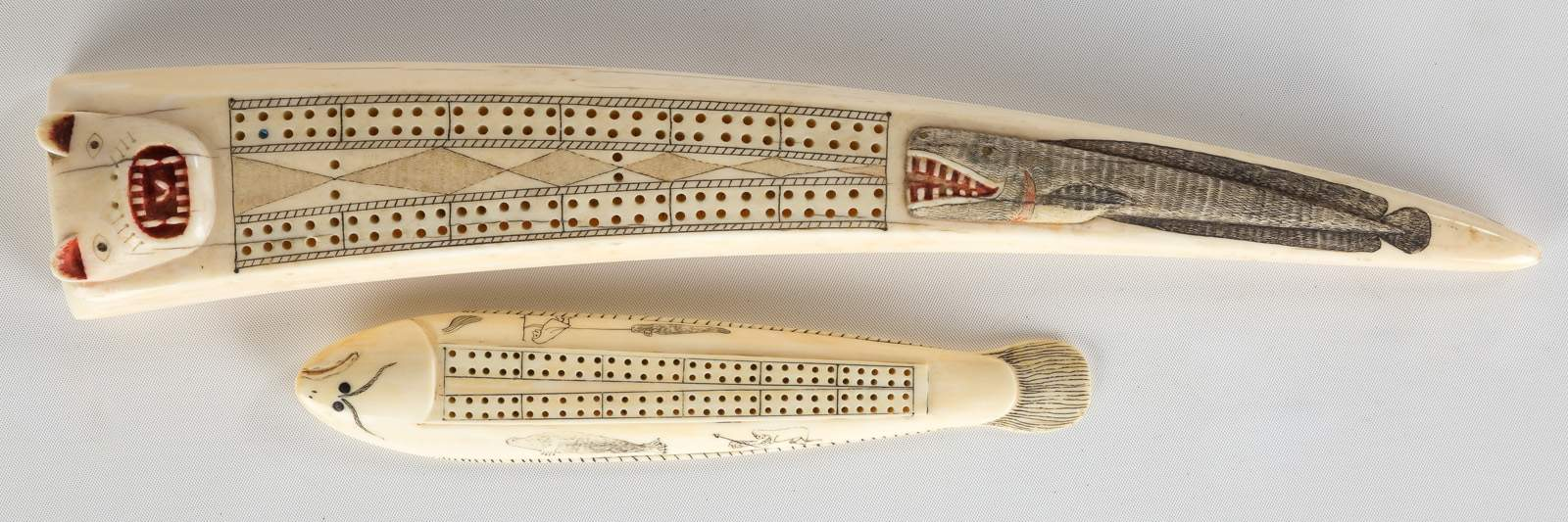 Inuit Walrus Tusk Cribbage Boards Cottone Auctions