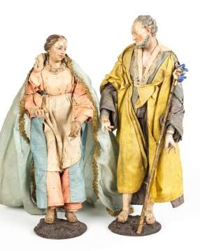 Pair of Neapolitan 18th Century Creche Figures