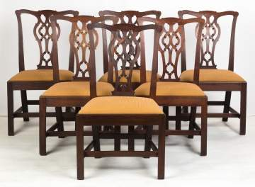 Set of Six Chippendale Mahogany Dining Chairs