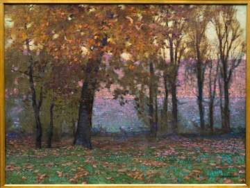 "William Langson Lathrop (American, 1859-1938)  ""October Evening"""