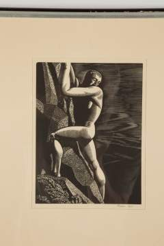 "Rockwell Kent (American, 1882-1971) ""The Mountain Climber"""