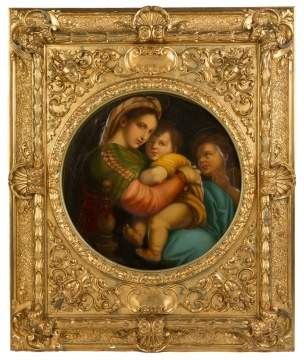 After Rafael, Madonna della Sedia (Madonna & Child)