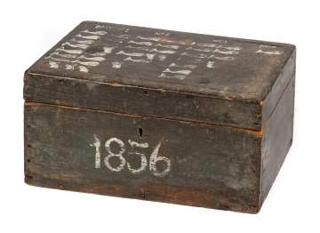 19th Century Painted Pine Whaling Box