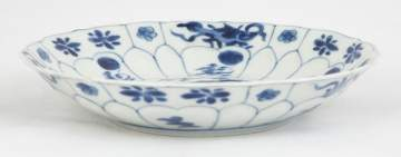 Chinese Blue & White Porcelain Deep Dish