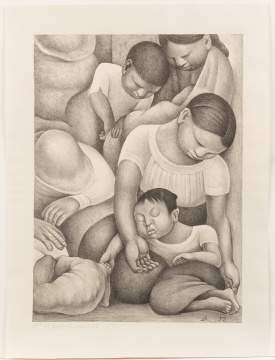 "Diego Rivera (American, 1886-1957) ""El sueño (La noche de los pobres)"" / Sleep (The night of the poor)"