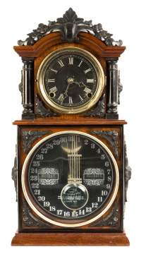 "Ithaca No. 3 1/2 ""Parlor"" Calendar Shelf Clock"