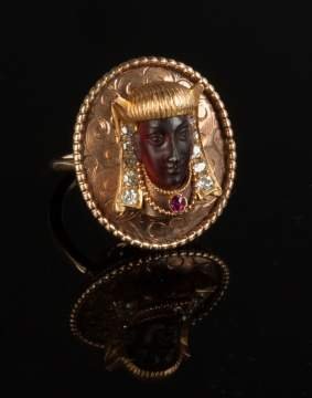 Gold & Diamond Blackamoor Ring