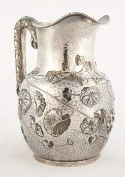 Bigelow Kennard & Co, Boston Hand Hammered Sterling Silver Water Pitcher