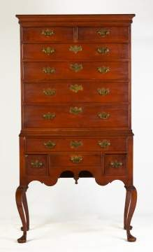 18th Century Long Island Queen Ann Highboy