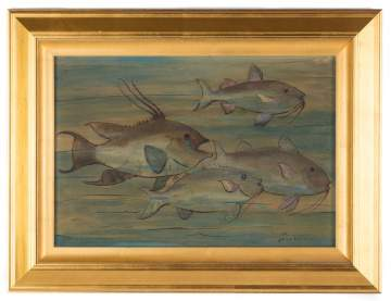 "Jane Peterson (American, 1876-1965) ""School of Fish"""