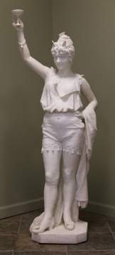 Prof. Andrei Cambi (Italian, 19th Century) Marble  Sculpture of Hebe
