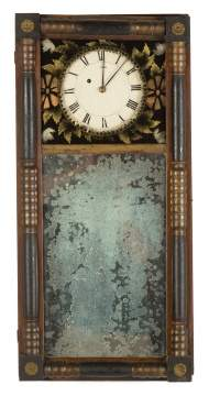 Attr. to Benjamin Morrill, Boscawen, New Hampshire Mirror Clock