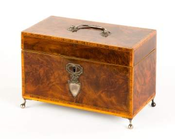 A Late George III Tea Caddy