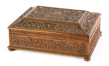 Louis XIV Style Carved Pear Wood Casket