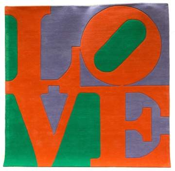 "Robert Indiana (American, 1928-2018) ""Choosen  Love"" Wool Rug"