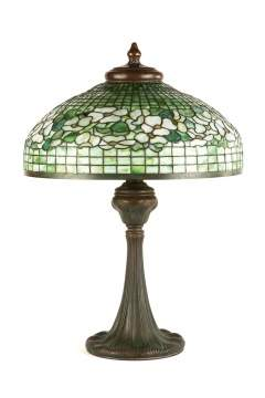 Tiffany Studios, New York, 'Banded Dogwood' Table Lamp