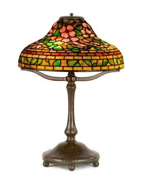 Tiffany Studios, New York, 'Jeweled Dogwood' Table Lamp