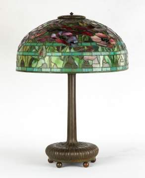 Tiffany Studios, New York, 'Oriental Poppy' Table Lamp