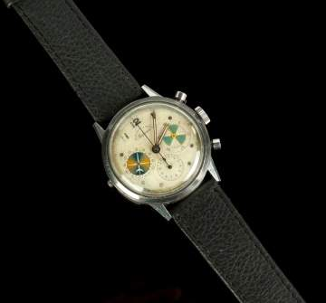 Heuer, Abercrombie & Fitch Co. Stainless Steel  'Seafarer Chronograph Wristwatch