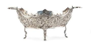S. Kirk & Sons Repoussé Footed Centerpiece Bowl  with Handles