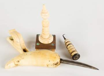 Group of 19th Century Scrimshaw Artifacts