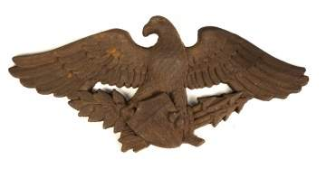 Cast Iron Eagle & Shield