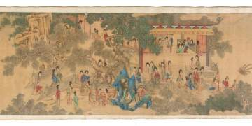 Attributed to Qiu Ying (1494-1552) Chinese Handscroll