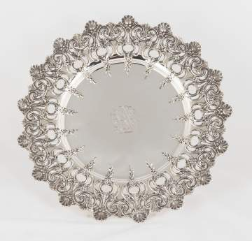 Tiffany Makers Sterling Silver Round Tray