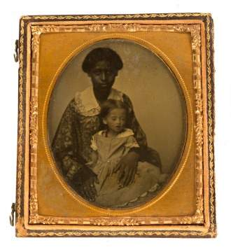 Ambrotype of Mammy with Child